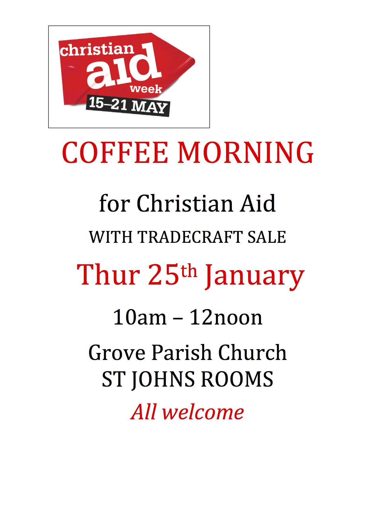 CA Coffee Morning poster