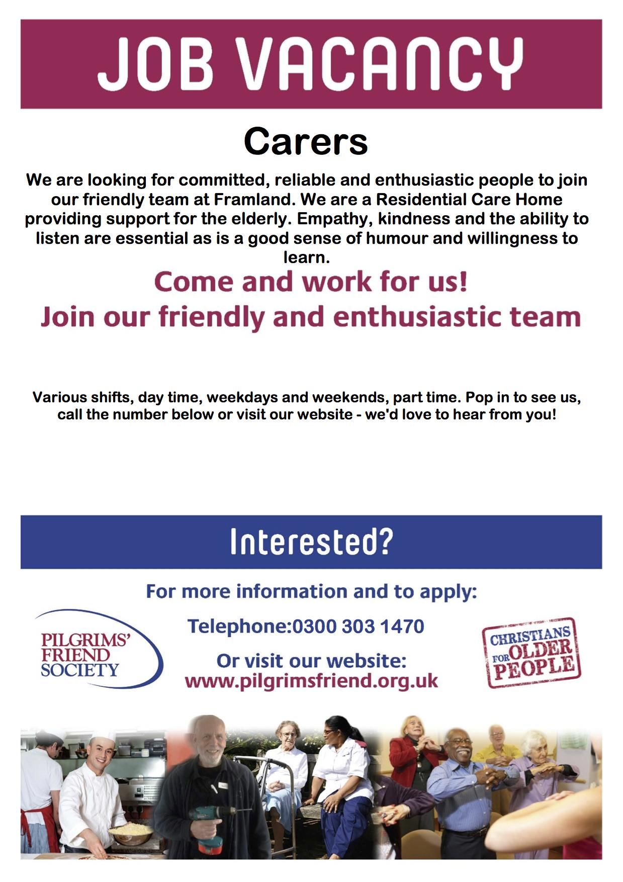 Carers Advert