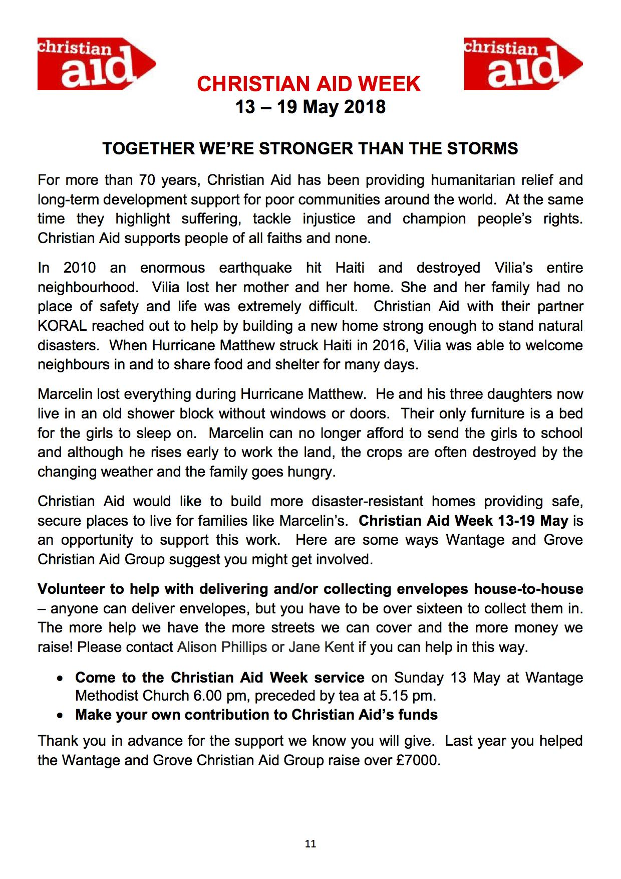 Christian aid report