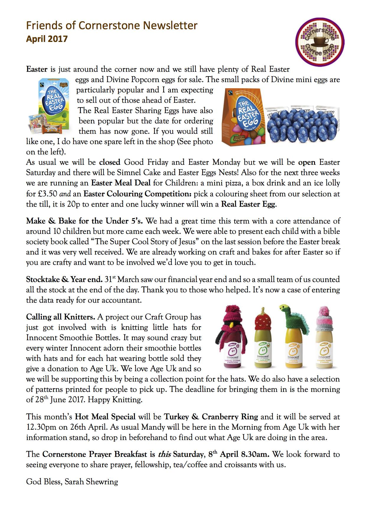 Friends Newsletter April 2017