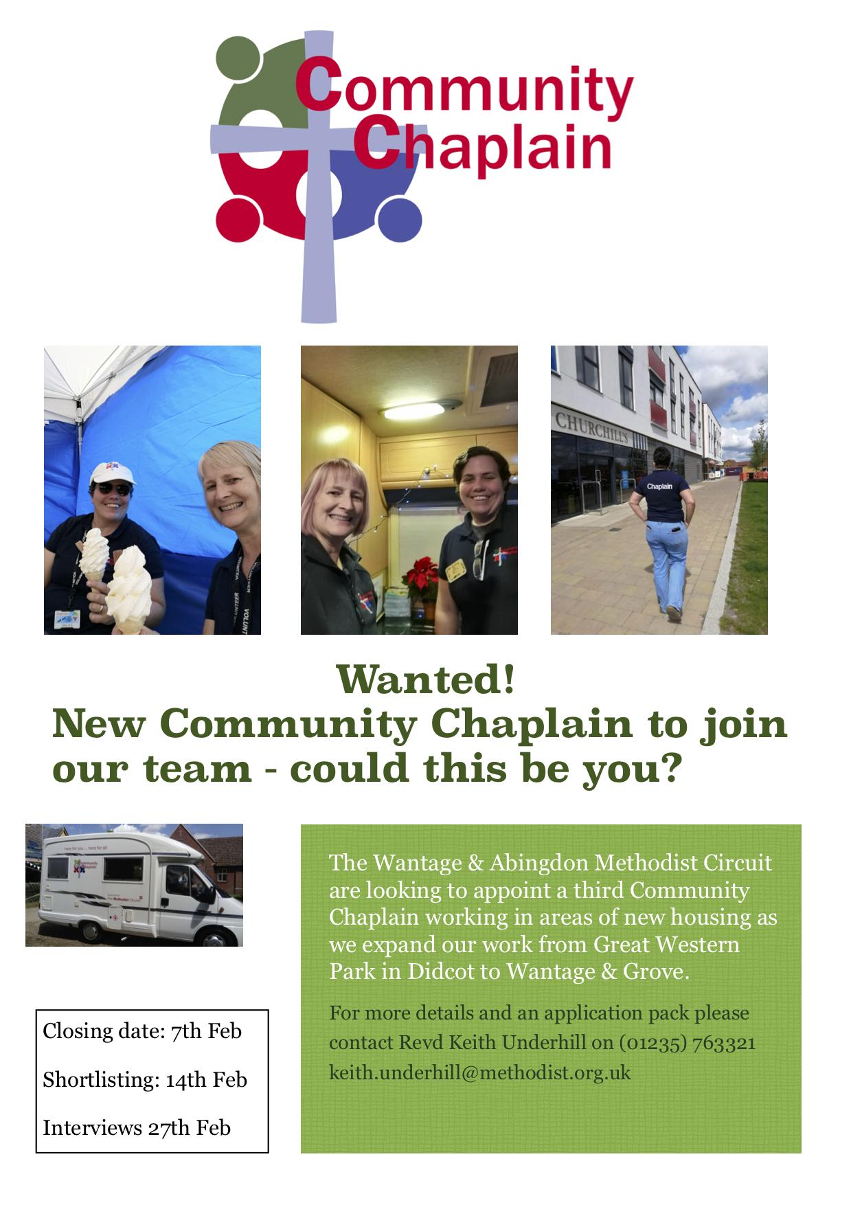 new poster for community chaplains 2