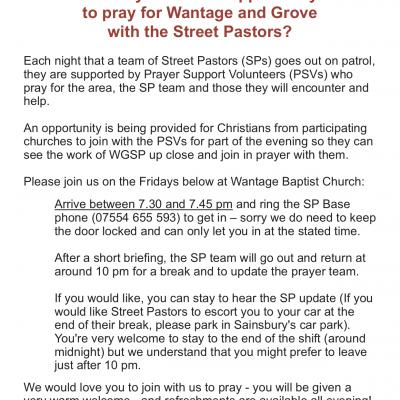 WGSP Open Prayer Sessions